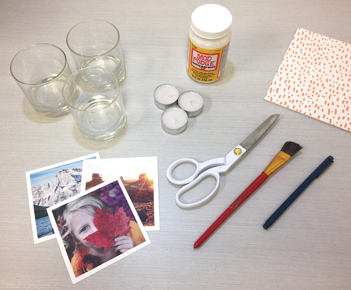 How to Make a Cozy Photo Candle Holder