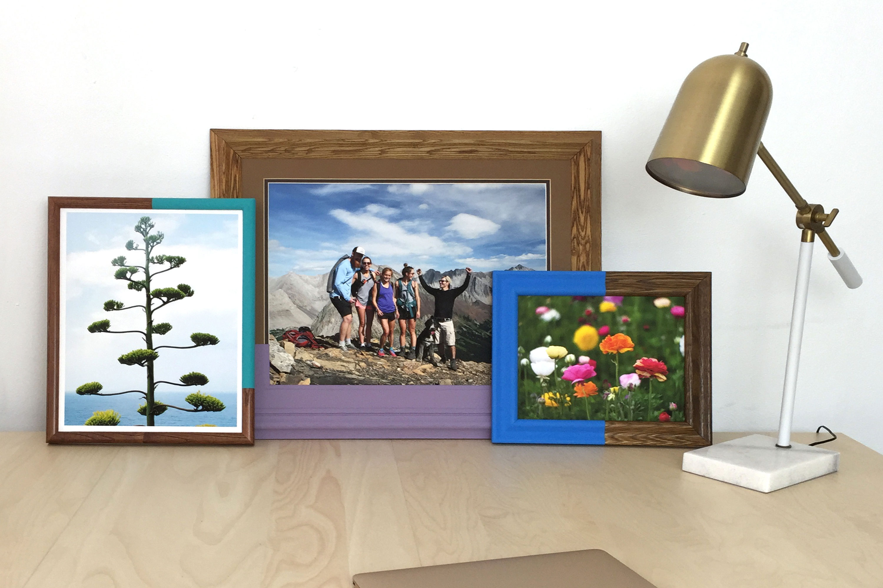 How to Make a Super Simple Color Block Gallery Wall