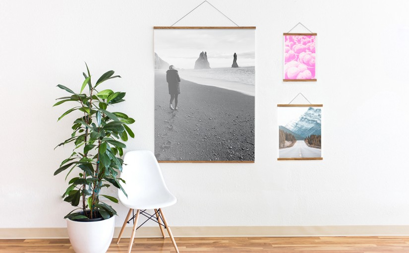 The Easiest Way To Hang Prints – Wooden Rails